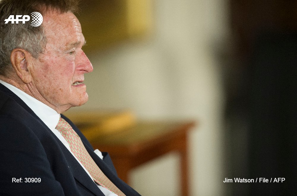 #BREAKING Ex-president George H.W. Bush hospitalized days after wife's death, spokesman says