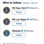 """I think the suggestive """"Who to Follow"""" algorithms need a little tuning up #FBIJobs"""