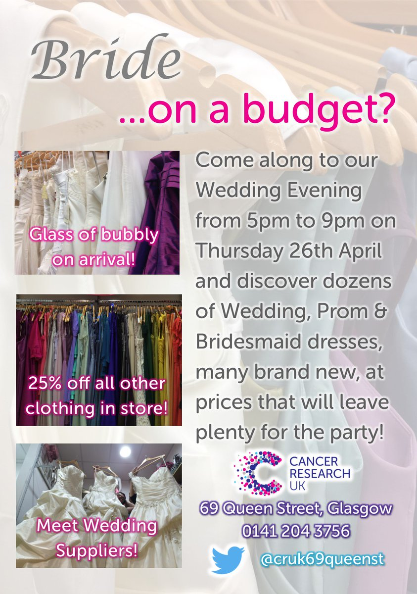cruk 69 queen street shop on twitter thursday 5 9 is our bride on