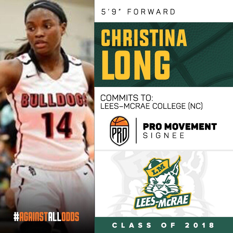 #PRO COMMITMENT  Christina Long COMMITS to Lees-McRae College (NC)  @14christinalong   #PRO #AgainstAllOdds   READ:  http:// probball.net/christina-long -commits-lees-mcrae-college-nc/ &nbsp; … <br>http://pic.twitter.com/QeWZYLmUFf