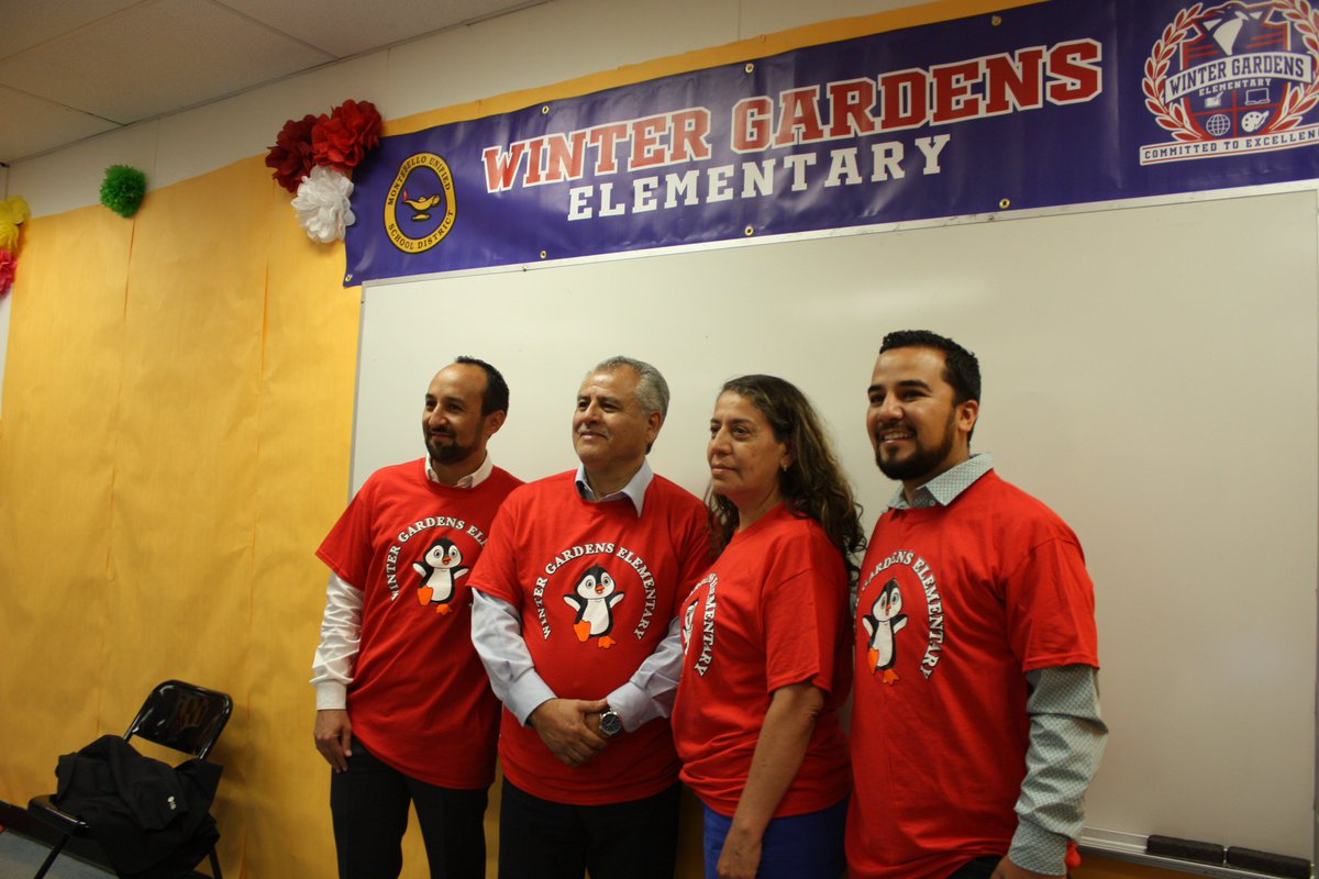 Montebello unified on twitter winter gardens elementary and bell gardens high school hosting for Winter gardens elementary school