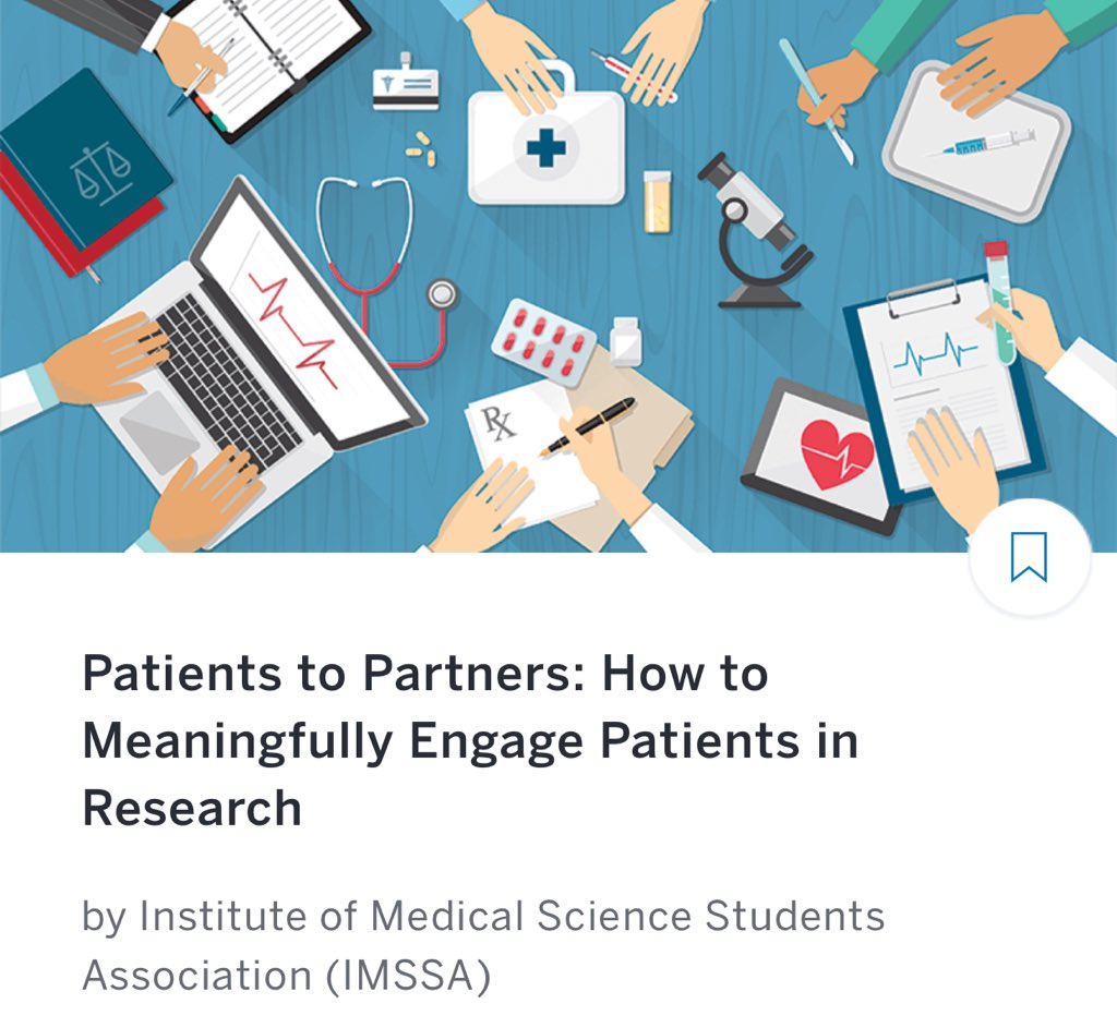 Extremely impressed by students of the @IMSSAuoft @UofTIMS @TranslationalRP organizing a #PatientEngagement in #Research Session for other students. #PatientAdvocates Janet Rodriguez and Jenn Boyle presenting.  Thx to @RakshaSule @cmadhow SimonHaney +others for putting together.<br>http://pic.twitter.com/gijclmkcTq