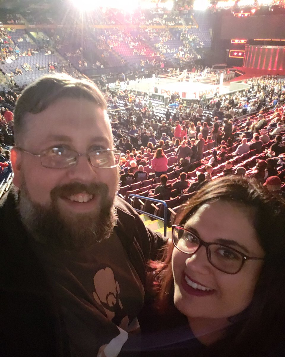 Rbi may go to see @kingjames but Cru7 and @stephanieallyn23 get to hit up @wwe Raw! Woo woo woo!  #stephFinn <br>http://pic.twitter.com/I5ajwyom4N