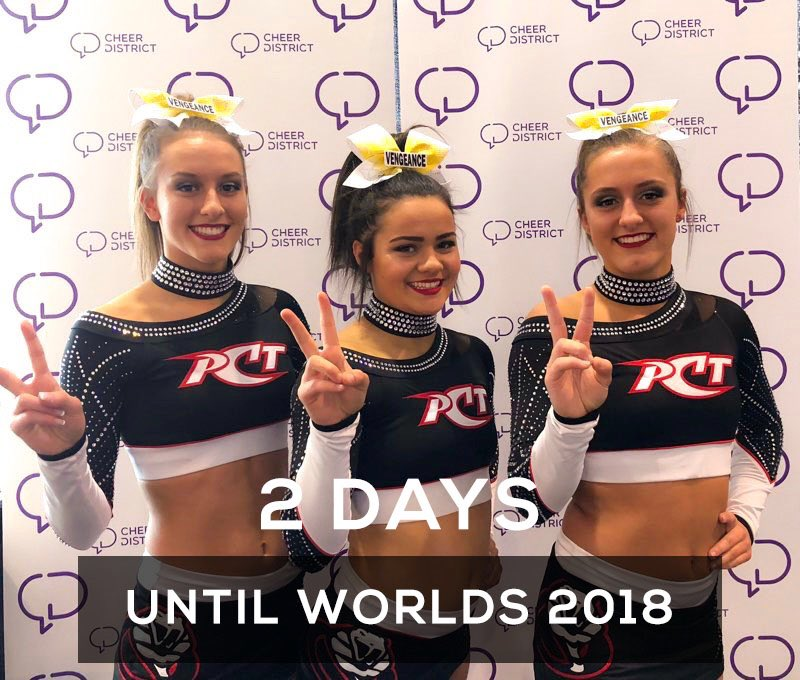 2 DAYS UNTIL WORLDS 2018: We're getting so excited to see all the teams representing our home base of Canada! Did you know #CheerDistrict is Canadian made? 🇨🇦