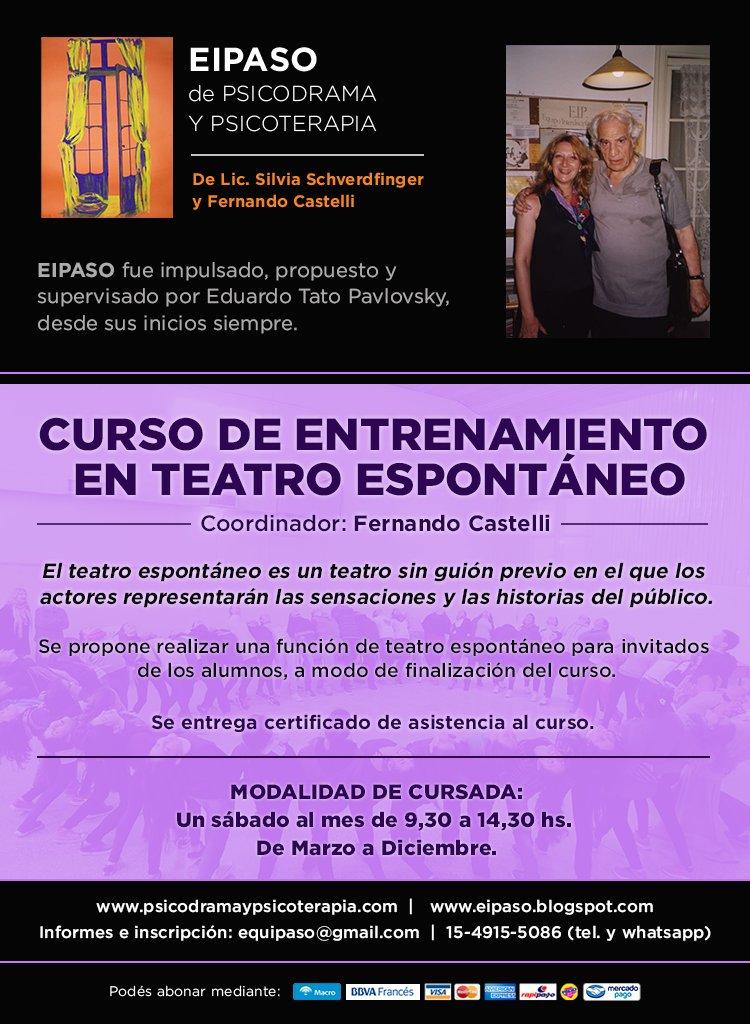 Curso de Entrenamiento en Teatro Espontáneo