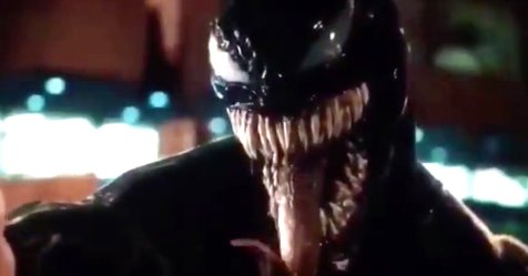 Leaked footage actually shows Tom Hardy as Venom https://t.co/xTeDrEZqzw