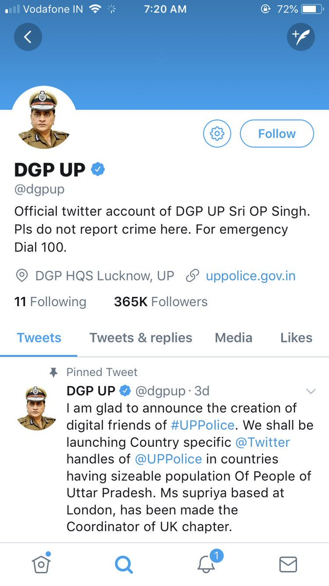 Class 10 Boy creates #Fake Twitter Account of UP DGP, Cops follow his directions.  The boy created the handle after he reportedly grew frustrated that the police were not taking action in a cheating case where his older brother has lost Rs 45k.   https://www. news18.com/news/india/cla ss-x-boy-creates-fake-twitter-account-of-up-dgp-cops-follow-his-directions-1726083.html &nbsp; … <br>http://pic.twitter.com/0UnbwMLgNW