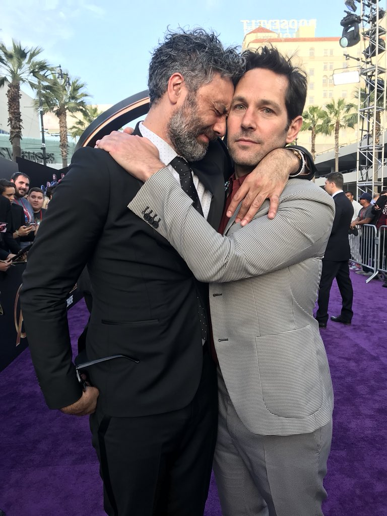 Paul Rudd + @TaikaWaititi = true love #InfinityWar https://t.co/72136qBbaa