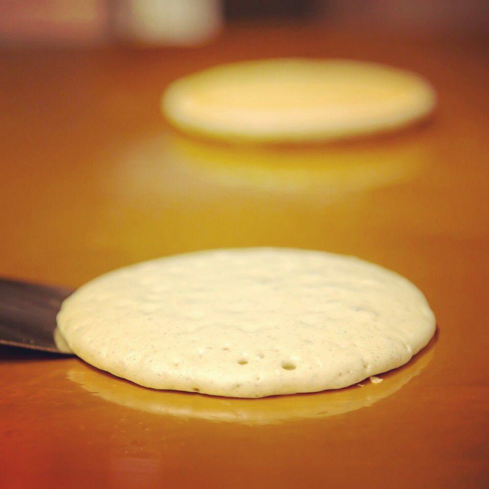 パンケーキの練習中(*´∇`*)