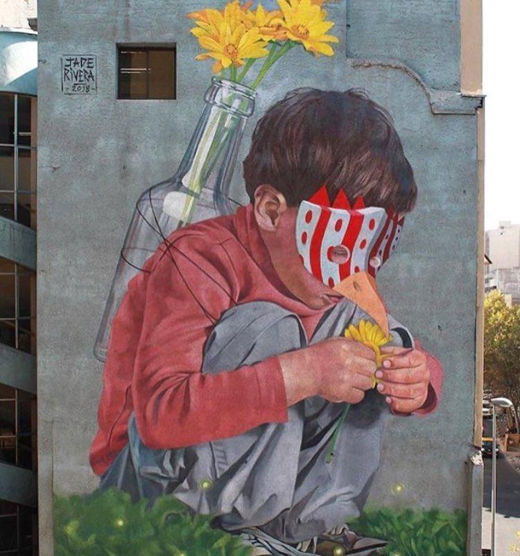 Children find magic  because they seek it  #StreetArt by Jade Rivera in #Santiago #Chile<br>http://pic.twitter.com/kRBJQKLpww