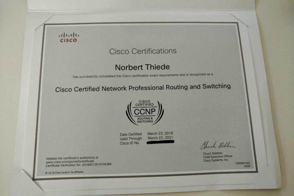 Norbert Thiede On Twitter Cisco Ciscocert Learningatcisco Ccnp