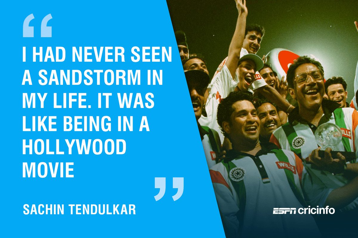 .@sachin_rt recounts his experience of #DesertStorm   https://t.co/DDjjp5NxgX #OnThisDay #IWasThere