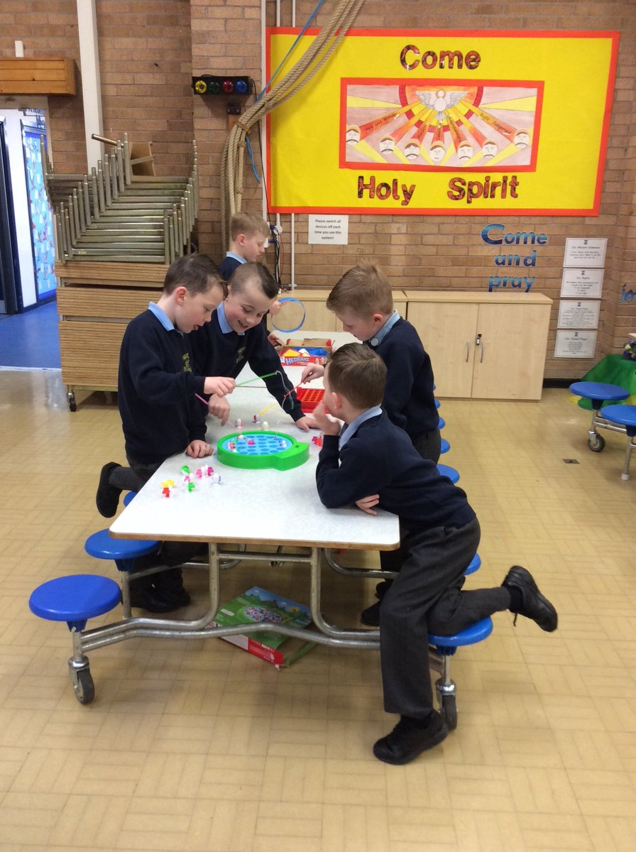 The children are enjoying their new toys in Breakfast Club this morning.