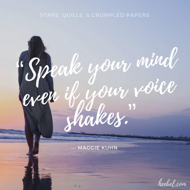 Wouldn&#39;t it be a shame if fear snuffed out the beautiful voices?   &quot;Speak your mind even if your voice shakes.&quot; - Kuhn #amwriting #writerslife #quote<br>http://pic.twitter.com/1pxKsf4EmZ