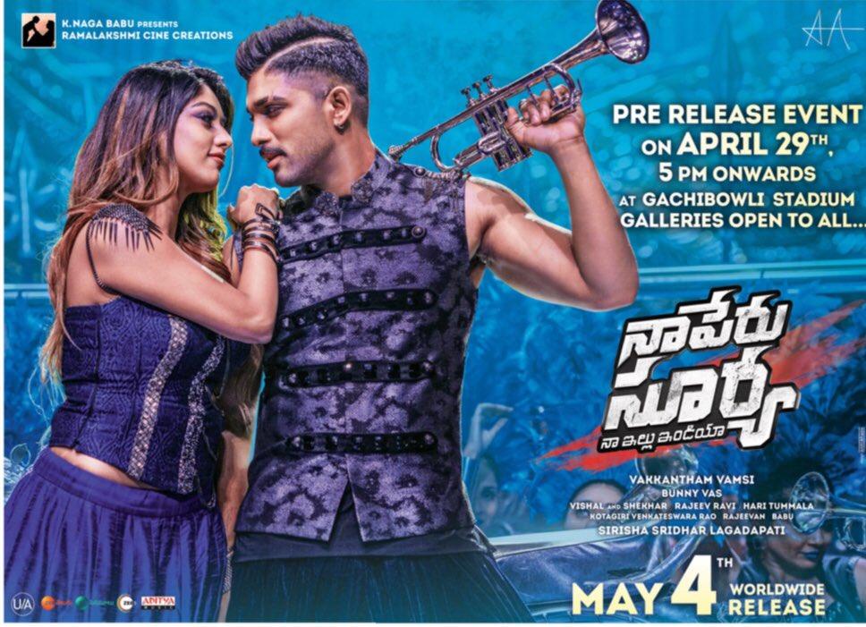 naa peru surya naa illu india pre release event