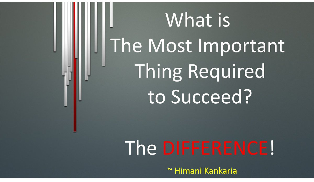 We all know what is required to achieve the #SUCCESS- Passion, Dedication, Persistence and Hard Work.  But, apart from all of these, the most important thing is-  The DIFFERENCE!  Be different, be #successful.   #TuesdayThoughts #QuotesForLife #lifequotes<br>http://pic.twitter.com/m61trjcEcb
