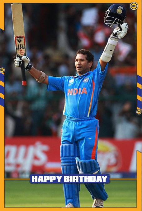 Happy birthday to the god of cricket Sachin Tendulkar