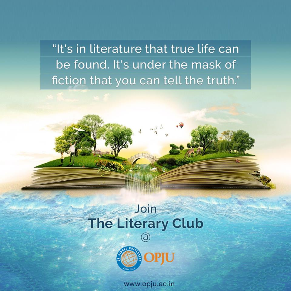 The literary club at #OPJU is committed to tap the effective communication talent among the students and develop and hone the literary skills of students.   For details:  http://www. opju.ac.in/dosa.php  &nbsp;    #StudentsClub #Studentsactivity #Studentslife #LiteraryClub — at Raigarh District<br>http://pic.twitter.com/CKybkHySvY