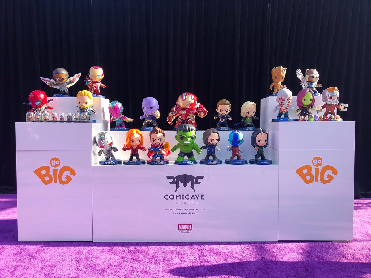 Revealed on the Marvel Studios' @Avengers: #InfinityWar red carpet, the latest collectibles from @ComicaveStudios!