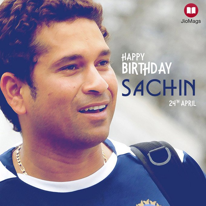 JioMags wishes Master Blaster, Sachin Tendulkar a very happy birthday!