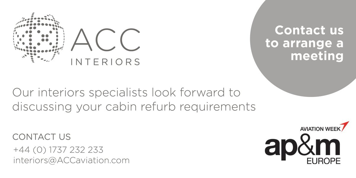 For A Meeting To Discuss How We Can Help You, Email Interiors@ACCaviation.com  Or Call +44 (0)1737 232233 #apmexpo #aviationweek #aviationpic.twitter.com/  ...
