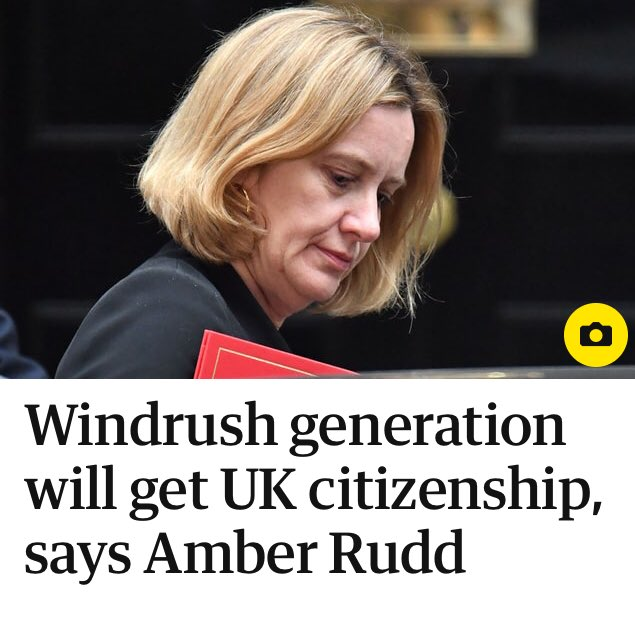 In generous move, Amber Rudd offers British citizenship to British people.
