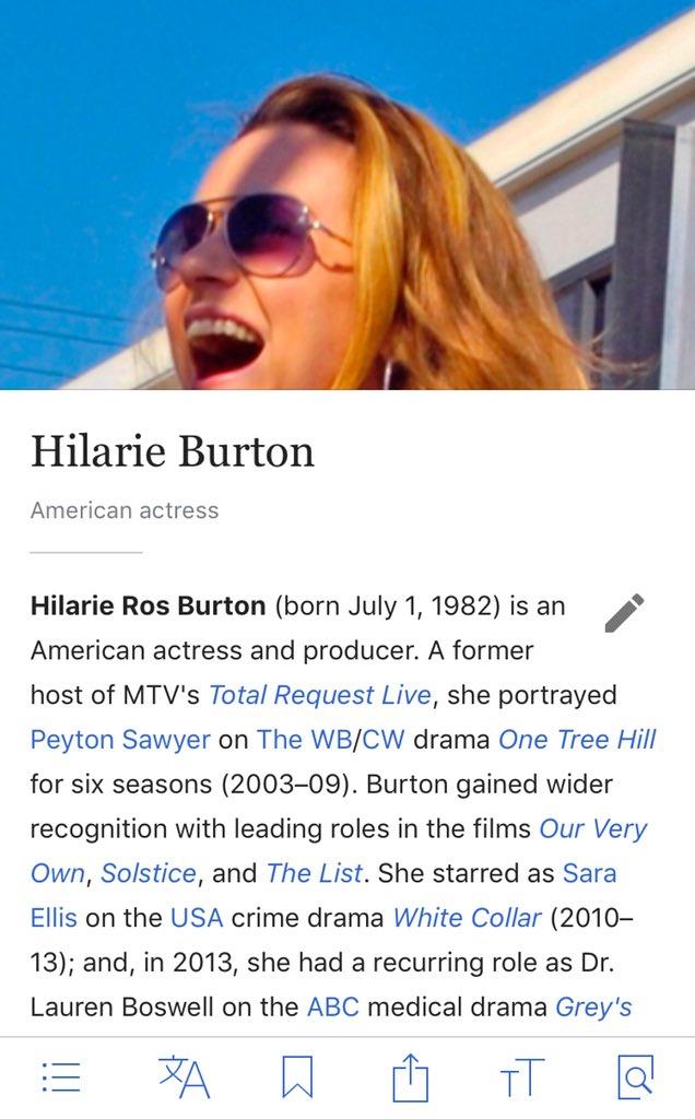 povijest hilarie burton