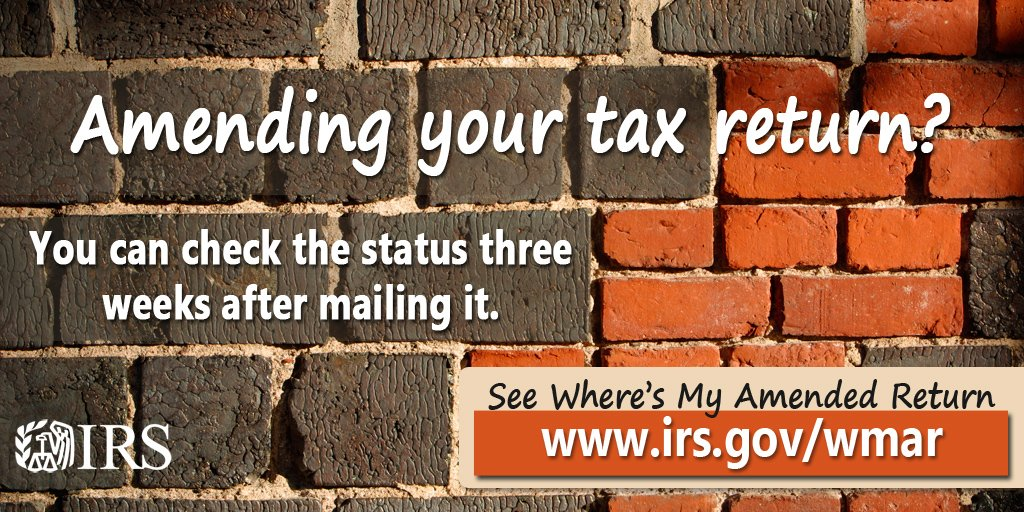 Irs On Twitter If You Need To Change Your Irs Tax Return Use Form