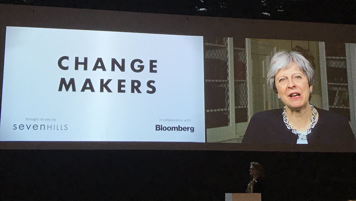 So exciting to kick-off @sevenhillsviews #changemakers with the announcement by @10DowningStreet that @OneYoungWorld #10th anniversary Summit will be in !<br>http://pic.twitter.com/1CfJiw5axY