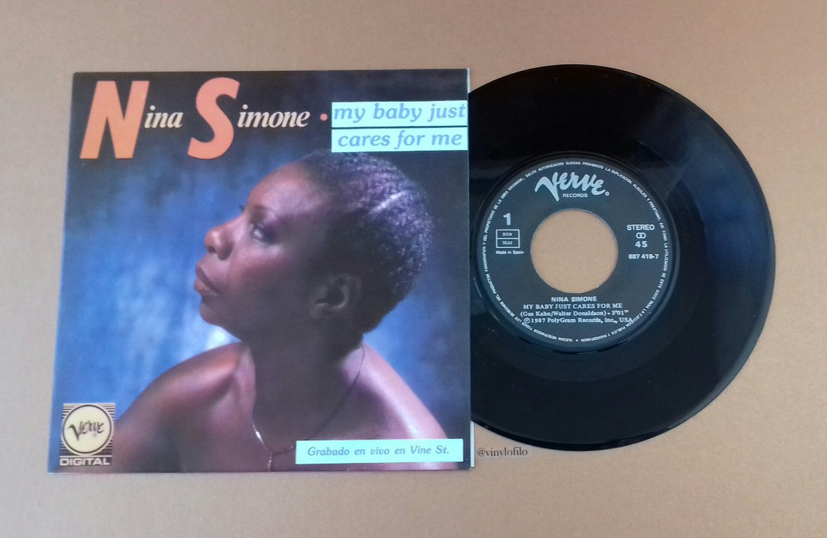 #NinaSimone   &#39;My Baby Just Cares For Me&#39; (7&quot; Orig.Single)   http:// youtu.be/3ZS7iKdRo5Q  &nbsp;   <br>http://pic.twitter.com/MbuKw1ztqe