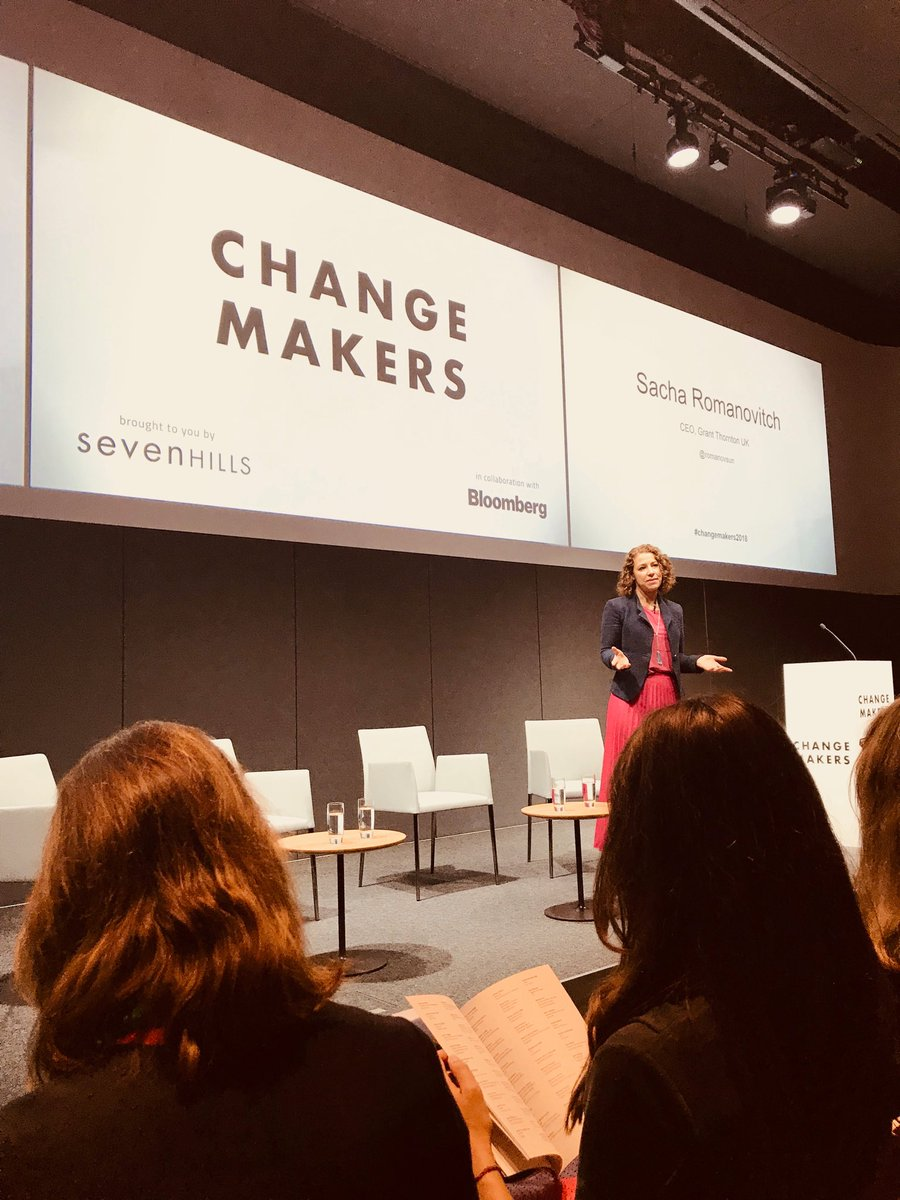 So thrilled to be here and speaking @sevenhillsviews #changemakers conference hosted by @business in the hugely impressive #bloomberg new European Headquaters and hearing from one of our greatest inclusive leaders of today @romanovsun<br>http://pic.twitter.com/B2xUTEiZU8