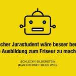 🧐KI in der Kanzlei der Zukunft? #Anwalt #Jura #Roboter #ki #ai #künstlicheIntelligenz #jura #friseur #handwerk @Dieser_Schlecky