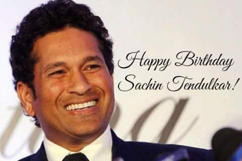 Happy Birthday the legend Mr. Sachin Tendulkar.