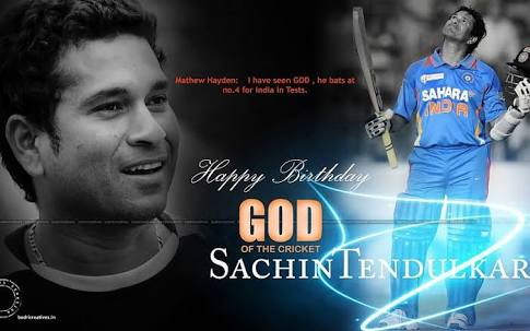 Wish you happy birthday Sachin Tendulkar