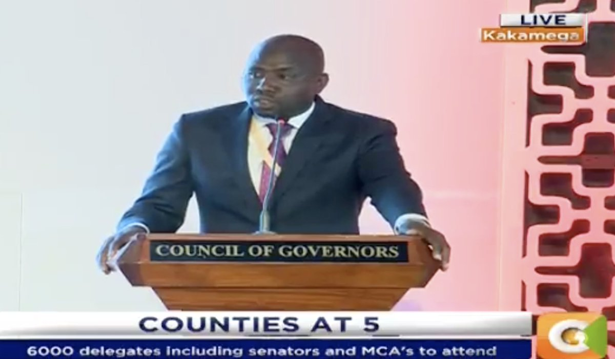 Senator Murkomen:  Senators do not call governors to appear before them to embarrass them, but to account for how resources have been used #DevolutionConference2018