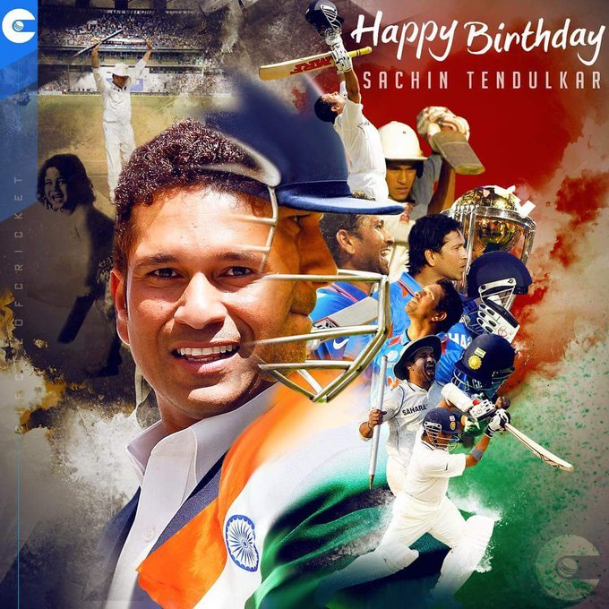 Happy birthday Sachin Tendulkar..