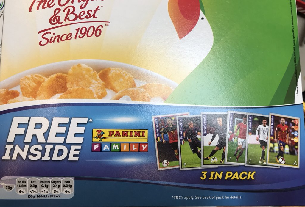 Hey @KelloggsUK &amp; @OfficialPanini, I really hope you have women #footballers in these sticker packs in #Cornflakes! #rolemodels  @LetToysBeToys @GenderDiary<br>http://pic.twitter.com/DHqrHIZybU