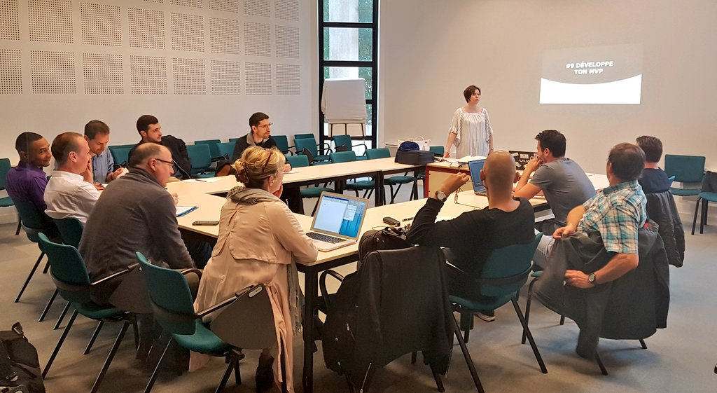 Développe ton #MVP ce matin à #Caen ! #WorkshopsByNI #startup #creation #projetinnovant https://t.co/g2MLLQuSBz