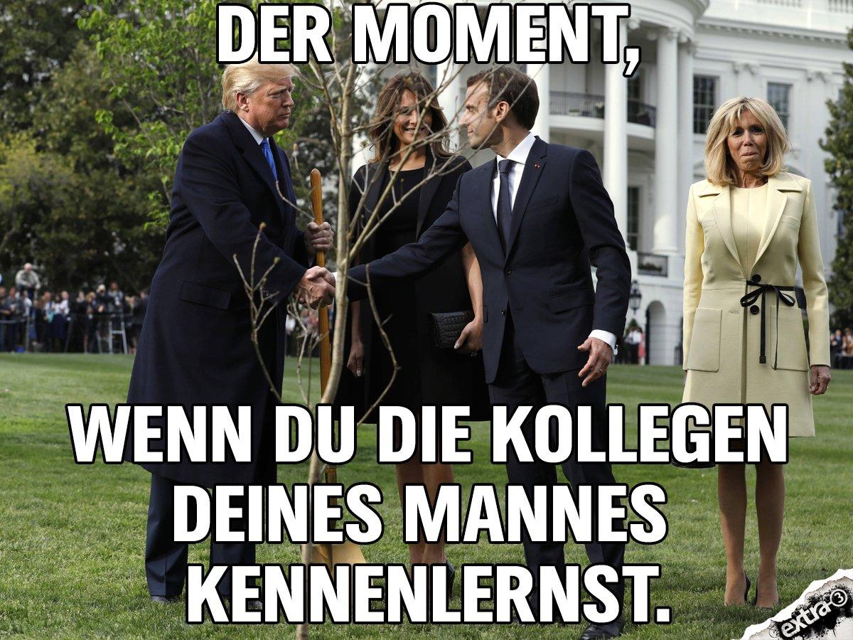 Wir fühlen mit ihr. #macron #trump