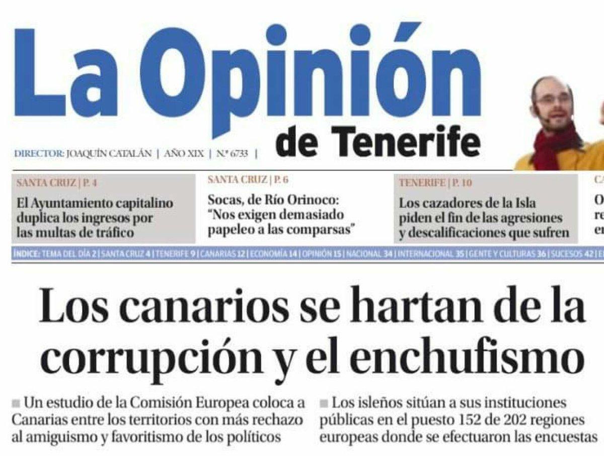 Hoy le vamos a preguntar al Presidente de Canarias qué opina de esto: