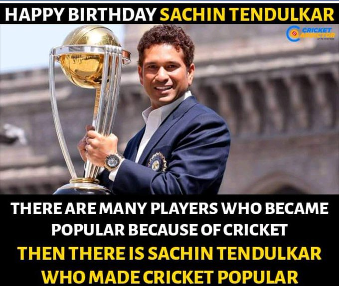 Indian cricketer master blaster sachin tendulkar today happy birthday in wish........ Tendulkar