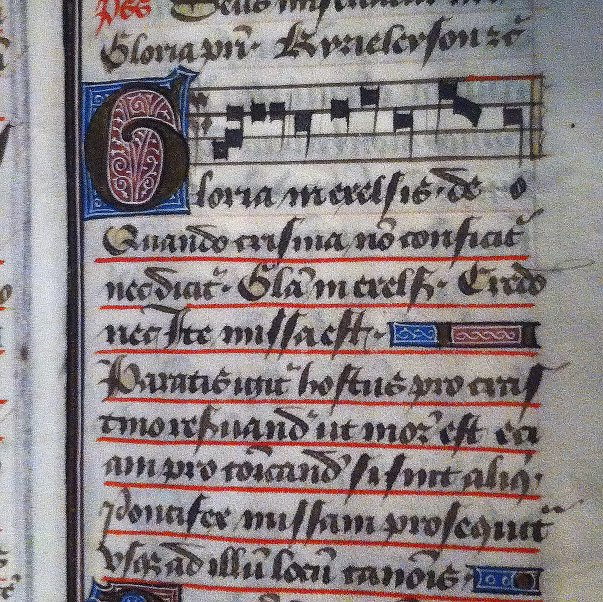 #Singers and musicologists are used to #Mass settings lacking the incipit of the #Gloria and #Credo, because they were intoned by the priest... So here&#39;s what that can look like from HIS point of view.  (#manuscript now on view @Catharijne Convent) #earlymusic #medievaltwitter<br>http://pic.twitter.com/wnoNOV1wqn