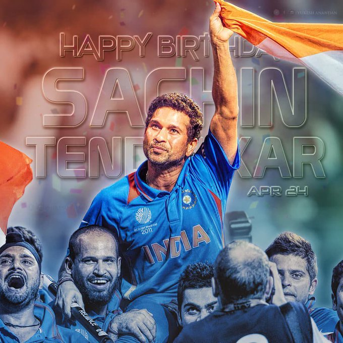 HAPPY BIRTHDAY  THE GOD OF CRICKET SACHIN TENDULKAR