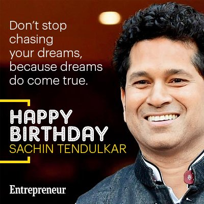 Wishing a very Happy Birthday to the God of Cricket, Sachin Tendulkar sachin_rt