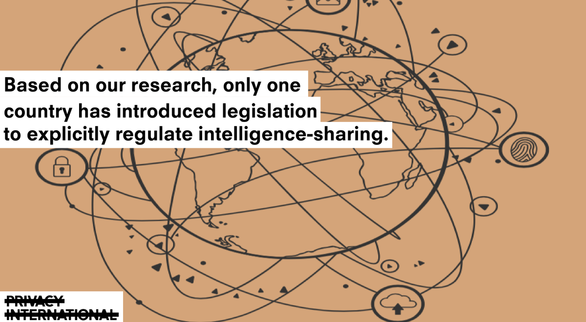 Our new report reveals alarming weaknesses in the oversight of intelligence-sharing. Oversight bodies must have the necessary powers to enforce greater transparency and legality #surveillance  https:// privacyinternational.org/campaigns/secr et-surveillance-networks &nbsp; … <br>http://pic.twitter.com/XKCu1XstGg