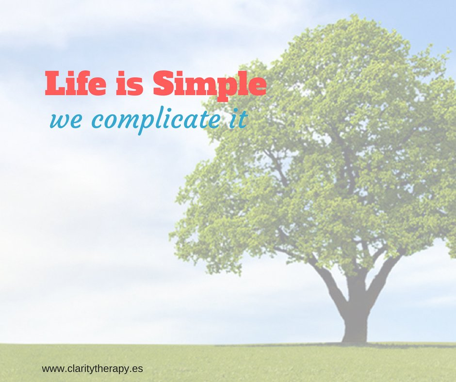 Life is Simple - we complicate it.     #innerwisdom #wisdom #uncomplicated #simplethings #gratitude #positivethinking #PositiveMentalAttitude @ClaritySpain #JoyTrain<br>http://pic.twitter.com/D98DooRRWG