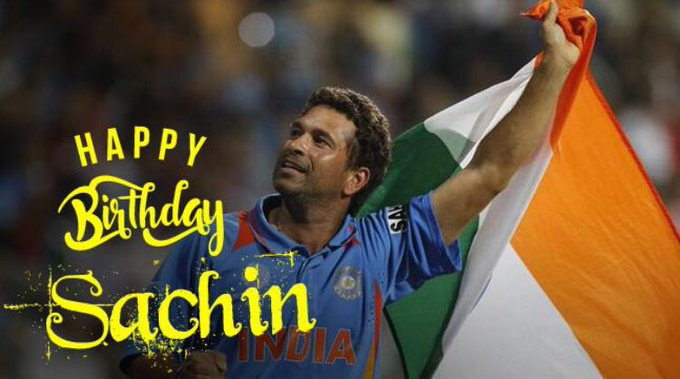 Happy birthday to the little master.. God of Indian Cricket.. The Sachin Tendulkar.