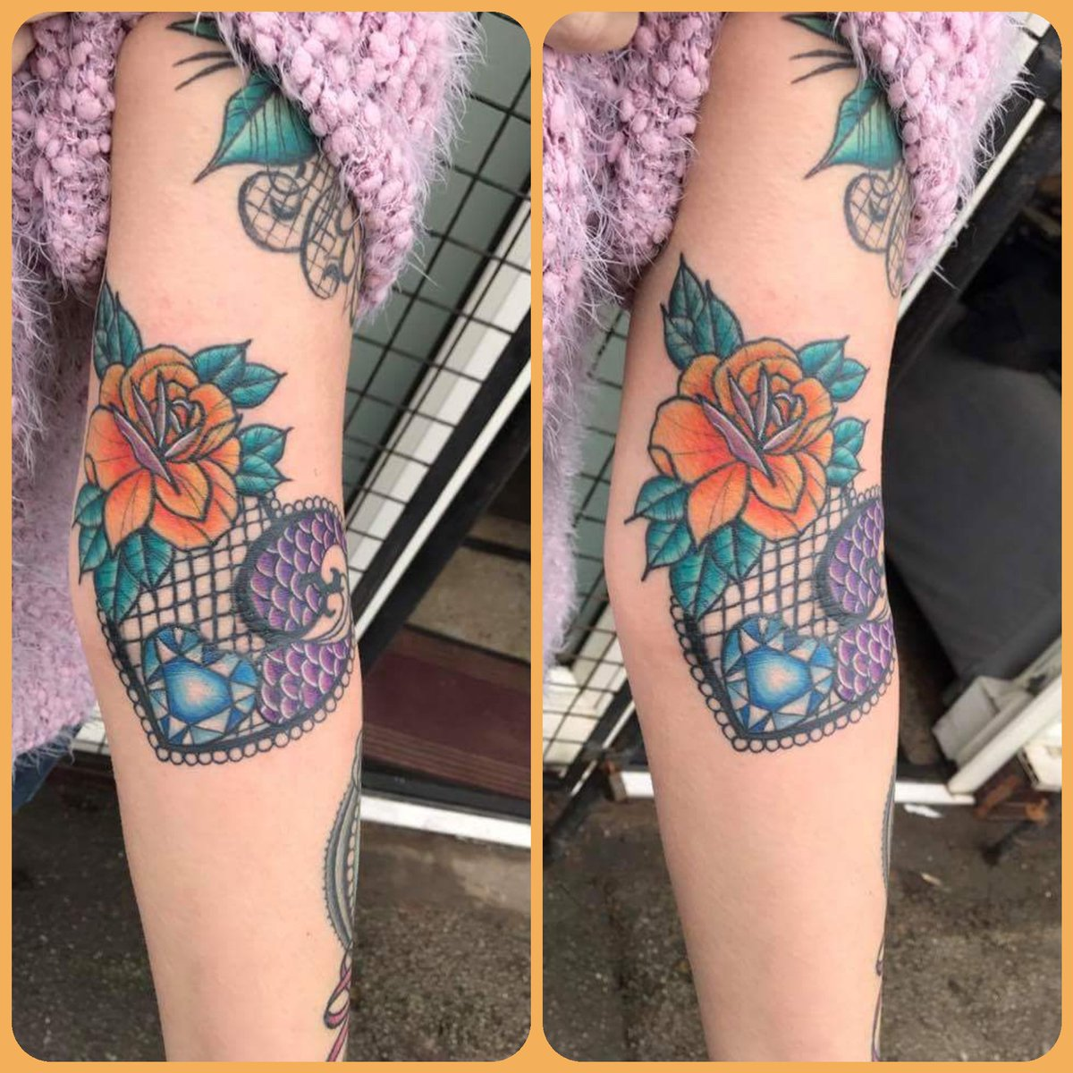 Something girly from JC #BoldandBeautiful #boldwithhold #colour #tattoo #Flowers #lace #Macclesfield #CarpeDiem #yayofamilia @CarpeDiemJC_ @MagnumTattoo @MacclesfieldRT @EternalInk @WorldFamousInk @starrtattoo   carpe-diem-tattoo@hotmail.co.uk<br>http://pic.twitter.com/vwHbWrYK3B