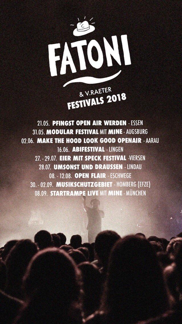 Fatoni On Twitter Ein Paar Festivals 2018 Tbc