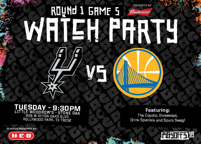 Giveaways, @SpursCoyote and more!  Tag us with #GoSpursGo and share your pictures from tonight's watch party!